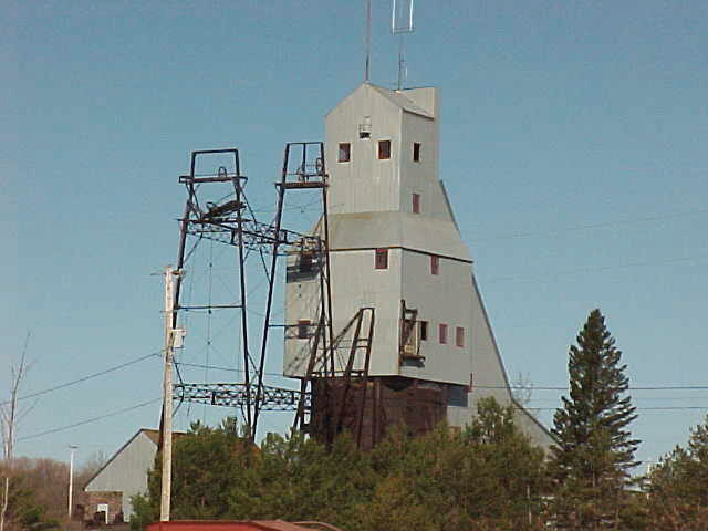 View of  headframe from north
